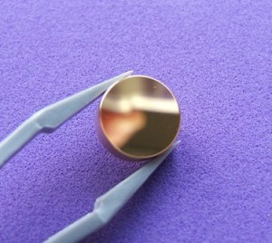 Gold coated copper mirror